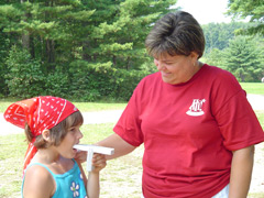 Rhonda Vosmus' AH! Asthma Program, shown here at an asthma camp, was the first to receive ASME certification.